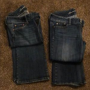 American Eagle jeans lot women's size 4 stretch